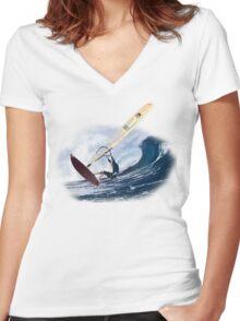 Windsurf Women's Fitted V-Neck T-Shirt