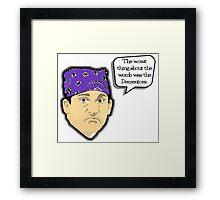 Custom for B -  Prison Mike1 Framed Print