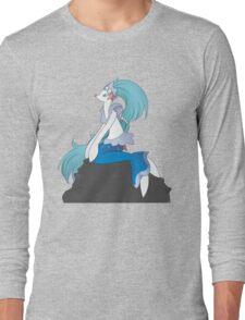 Moongazing Primarina, Transparent Long Sleeve T-Shirt