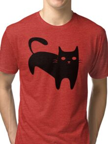 Cool Black Cat Tri-blend T-Shirt