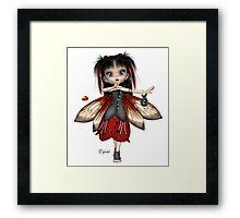 Ladybug Fae Framed Print