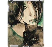 Asia with Black Cat  iPad Case/Skin
