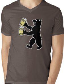 ours berlin beer Bier bear Mens V-Neck T-Shirt