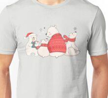 Polar Bear Winter Christmas Holiday Illustrations Unisex T-Shirt