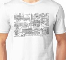 Queen's London Day Out - black & white Unisex T-Shirt