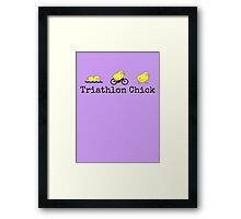 Triathlon Chick Framed Print