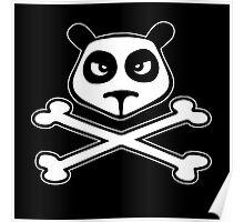 panda funny skull Poster