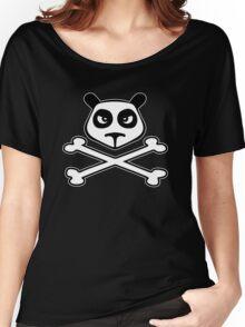 panda funny skull Women's Relaxed Fit T-Shirt