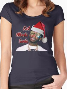 Gucci Mane East Atlanta Santa Christmas Women's Fitted Scoop T-Shirt