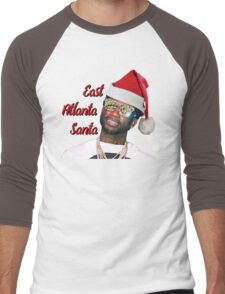 Gucci Mane East Atlanta Santa Christmas Men's Baseball ¾ T-Shirt
