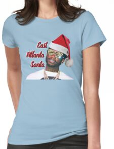 Gucci Mane East Atlanta Santa Christmas Womens Fitted T-Shirt