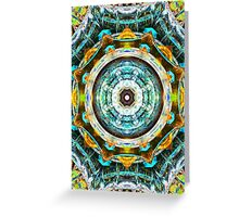Fractal Glass Kaleidoscope Greeting Card