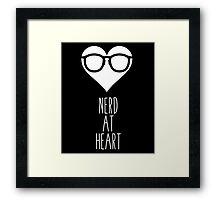 Nerd At Heart Framed Print