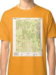 USGS TOPO Map California CA Willow Creek 102563 1997 24000 geo Classic T-Shirt
