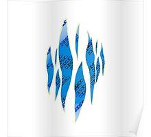 Dedsec Graffiti Spray Custom Blue Poster