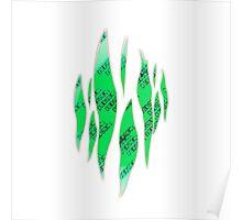 Dedsec Graffiti Spray Custom Green Poster
