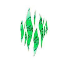 Dedsec Graffiti Spray Custom Green Photographic Print