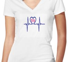RN Heartbeat Women's Fitted V-Neck T-Shirt