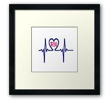 RN Heartbeat Framed Print