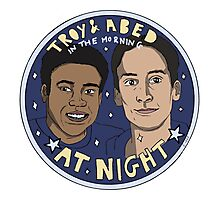 Troy and Abed in the Morning *At Night* Photographic Print