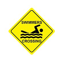 Swimmers Crossing Photographic Print