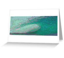 Pixel Wave Greeting Card