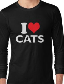 Cute Funny I Love CATS Long Sleeve T-Shirt