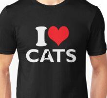 Cute Funny I Love CATS Unisex T-Shirt