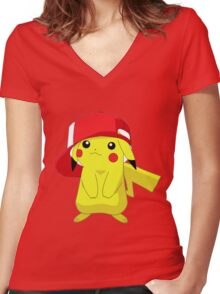 Pika 2 Women's Fitted V-Neck T-Shirt