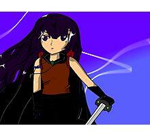 Anime swordfighter Photographic Print