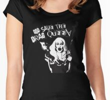 GOD SAVE THE DRAG QUEEN Women's Fitted Scoop T-Shirt