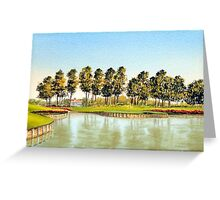 Sawgrass Golf Course Hole 17 Greeting Card