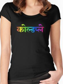 Coldplay hindi Women's Fitted Scoop T-Shirt