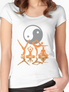 YOGA T-SHIRT Women's Fitted Scoop T-Shirt