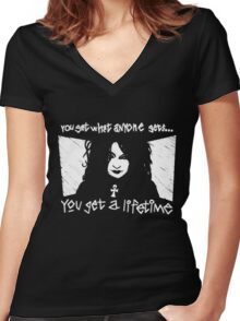 Death from Sandman Women's Fitted V-Neck T-Shirt