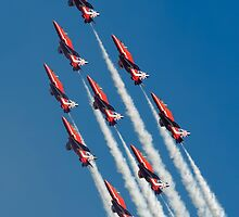 Red Arrows - Diamond Roll by © Steve H Clark Photography