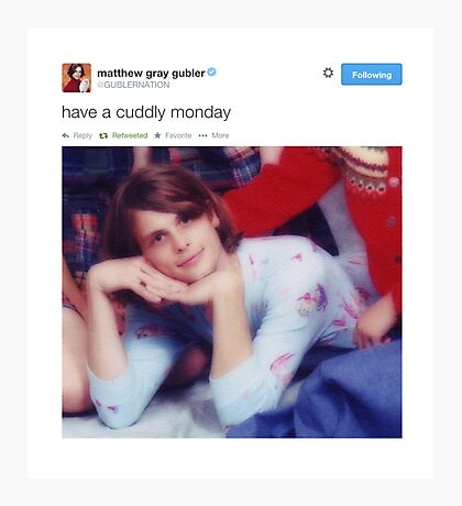 matthew gray gubler tweets Photographic Print