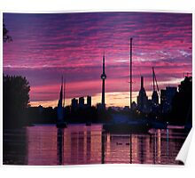Toronto Skyline - the Boats Are Coming In Poster