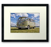 Volkswagen Kombi Samba Bus Framed Print