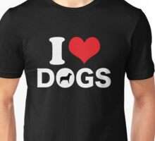 Cute Funny I Love DOGS Unisex T-Shirt