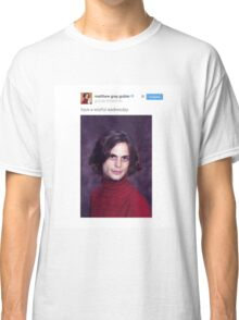 Matthew Gray Gubler Tweets Classic T-Shirt