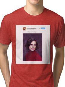 Matthew Gray Gubler Tweets Tri-blend T-Shirt