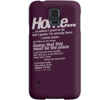 """Talking Heads Lyrics - """"This Must Be The Place (Naive Melody)"""" Samsung Galaxy Case/Skin"""