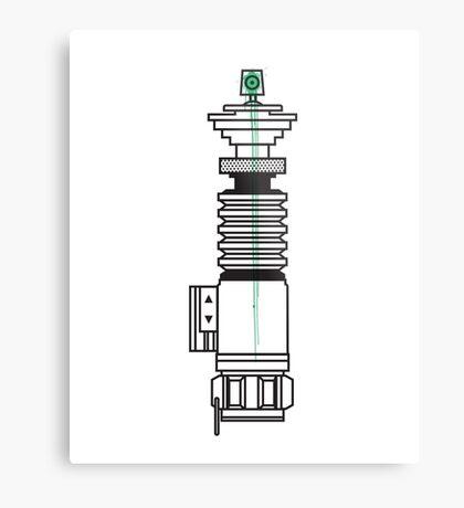Spraysaber Green Metal Print