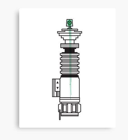 Spraysaber Green Canvas Print