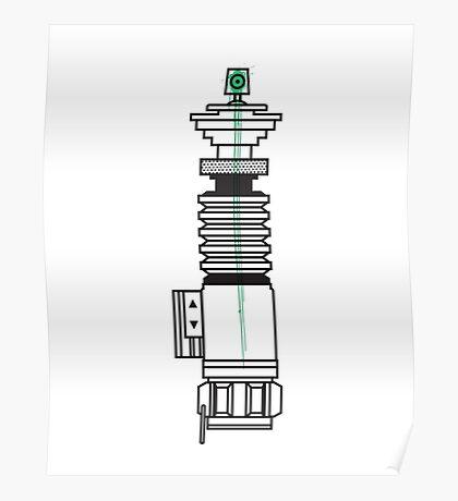 Spraysaber Green Poster