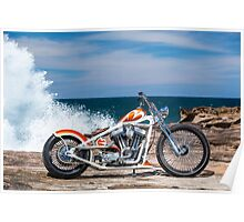 Kyle Smith's Custom Harley Chopper Poster