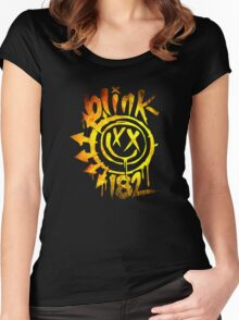 Blink 182 Yellow Fire Women's Fitted Scoop T-Shirt