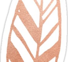 Rose gold feather Sticker