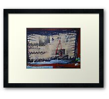 Shipwreck - Lost in a storm Framed Print